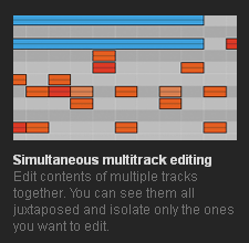 Simultaneous multitrack editing