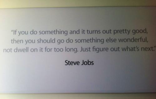 Appleのキャンパスには、スティーブ・ジョブズ氏の写真などが飾られている