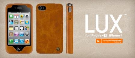 プレアデス、本革製スマートに使いこなせるシェルケース「SwitchEasy LUX for iPhone 4S/4」を発売