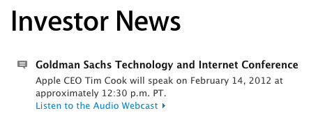 Cook goldman sachs webcast
