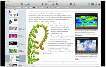 「iBooks Author」のアップデートで、iBooks形式以外はiBookstore以外でも販売可能に