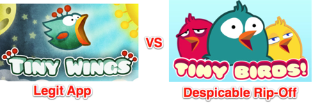 Tiny wings tiny birds comparison
