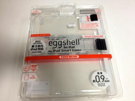 「新しいiPad」に「TUNEWEAR eggshell for iPad(クリア)」を装着してみる