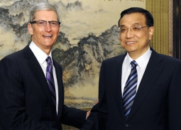 Tim cook and vice premier li keqiang