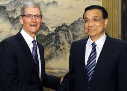 Tim cook and vice premier li keqiang