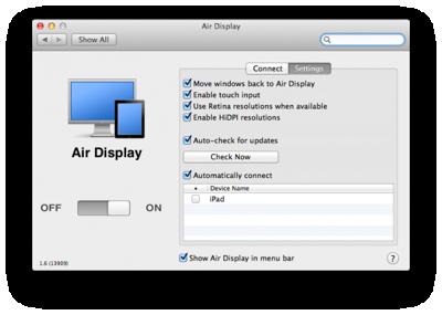 iOSアプリ「AirDisplay」がアップデートし、HiDPIモードが利用可能に