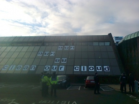 Greenpeace cloud protest ireland