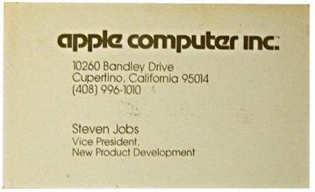 Steve Jobs Buisness Card by Mozilla 1