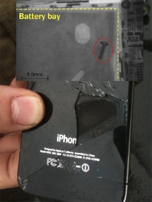 「iPhone 4」の自己発火問題は、内部に残されたネジが原因