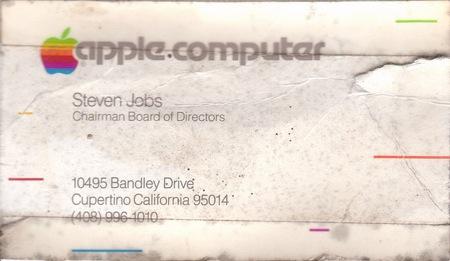 スティーブ・ジョブズ氏の古い名刺が発見される