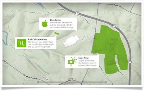 Appleのデータセンターは、100%再生可能エネルギーで稼働へ