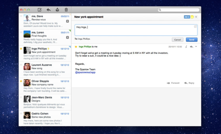 Sparrow、Mac向けメールクライアントアプリ「Sparrow 1.6」リリース