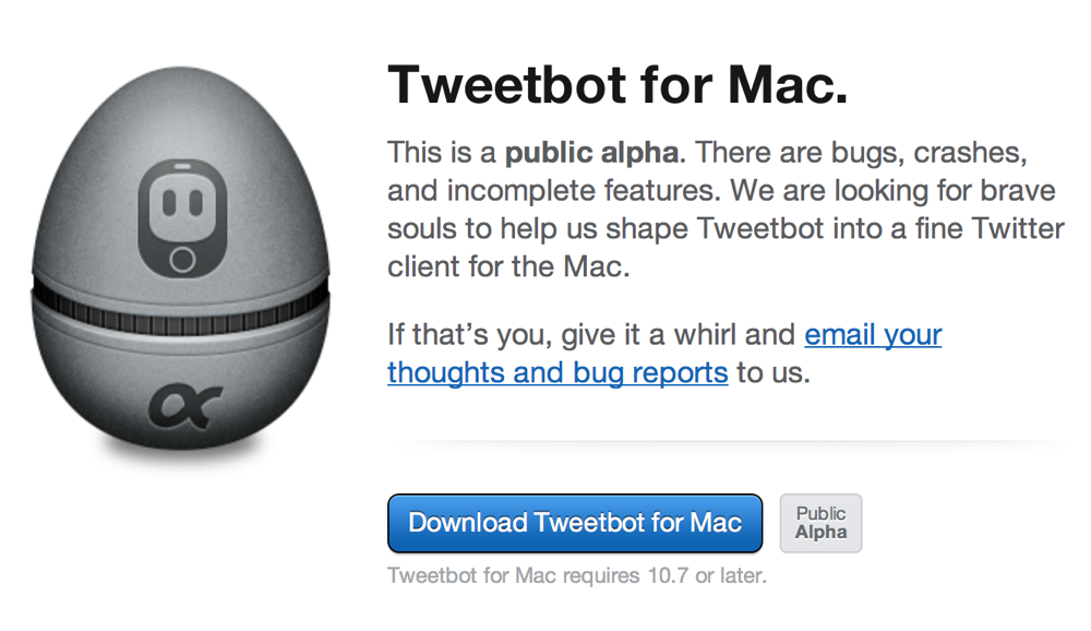 Tapbots、「Tweetbot for Mac Alpha 2」リリース