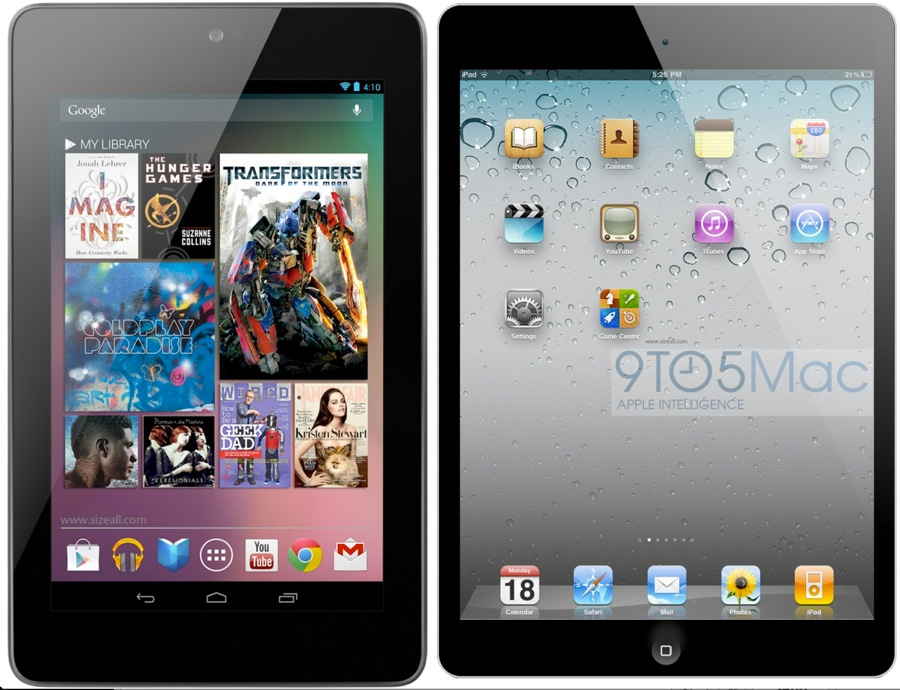 Ipad mini nexus 7