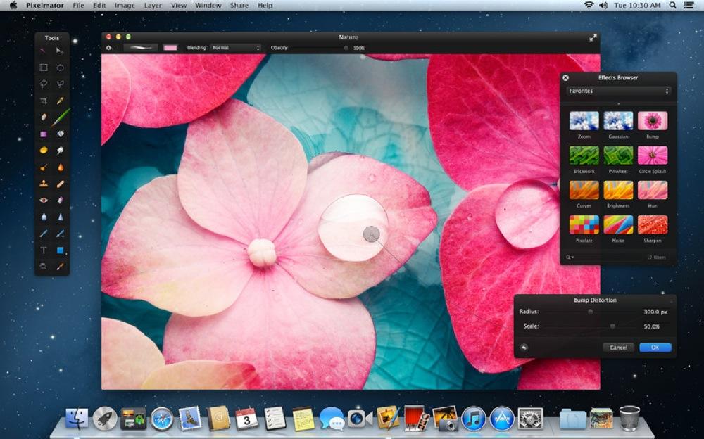 Mac用画像編集アプリ「Pixelmator 2.1」がリリース、Mountain LionやRetinaディスプレイなどに対応