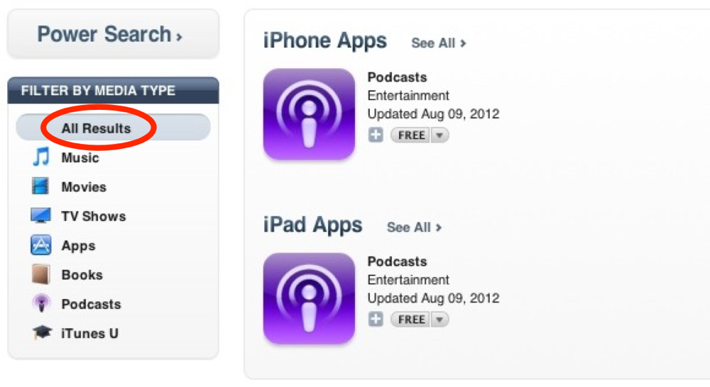 Podcasts itunes glitch 1