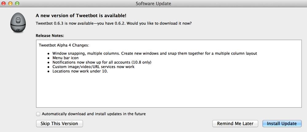 Tapbots、「Tweetbot for Mac Alpha 4」リリース