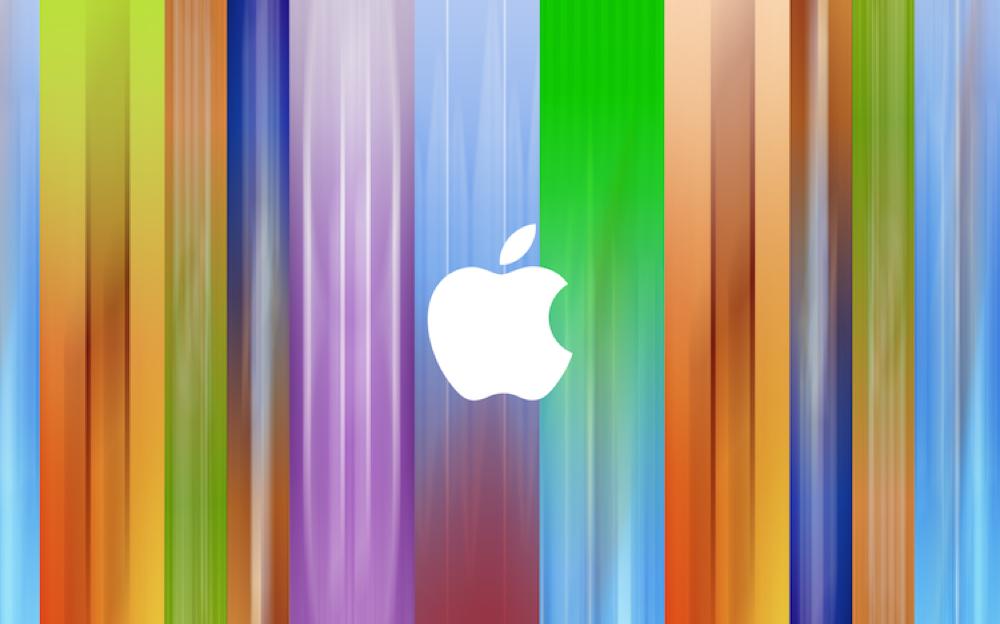 Appleのイベント会場に飾られているバナーデザインの壁紙が公開される