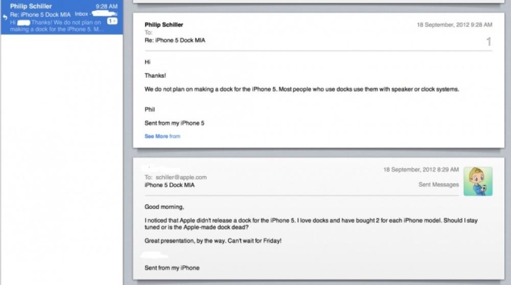 フィル・シラー氏、「iPhone 5」用Dockを作る計画はないと語る