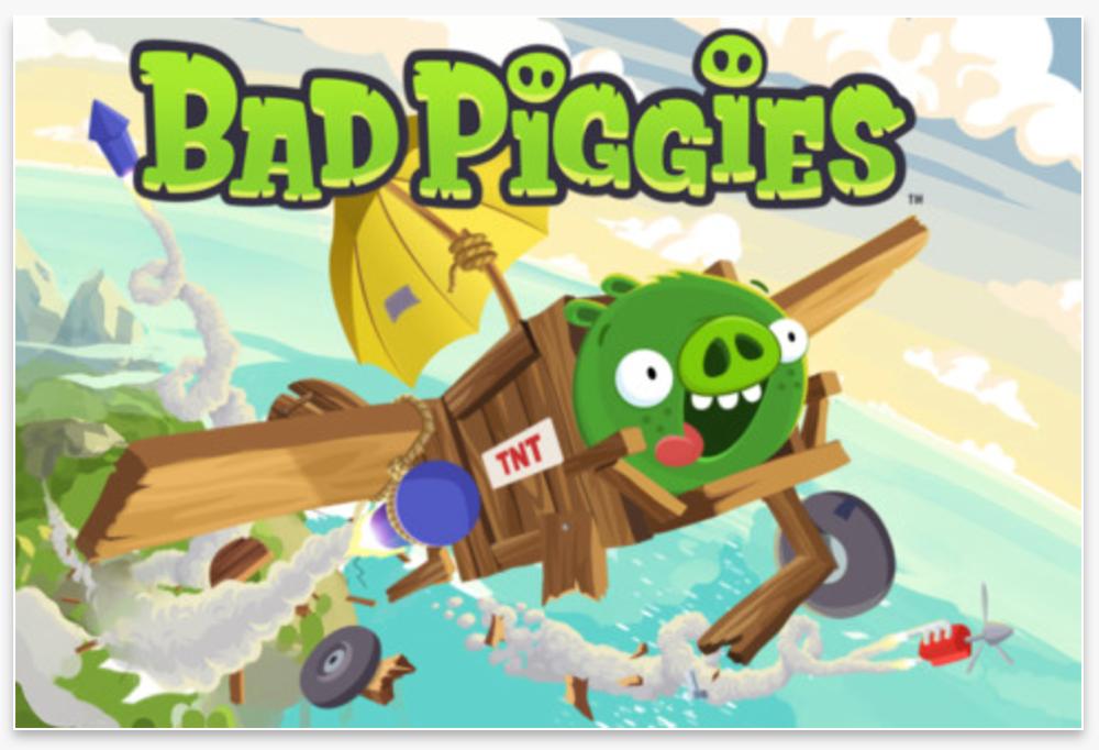 「Bad Piggies」がリリース3時間でApp Storeランキングの首位を獲得