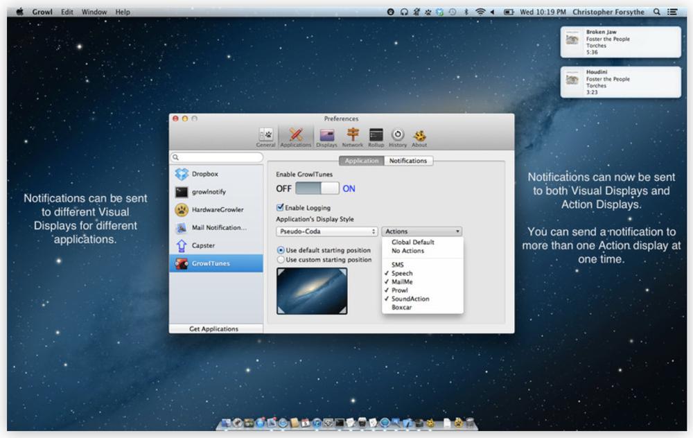 Macで人気の通知システム「Grow」が「OS X Mountain Lion」の通知センターに対応