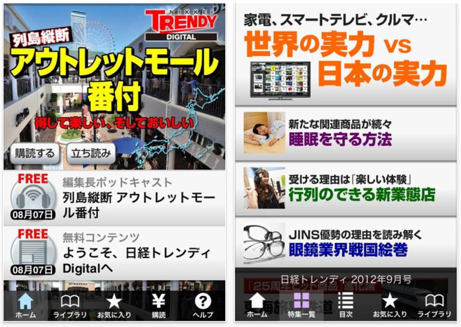 日経BP、iPhone・iPad向けに次世代の雑誌アプリ「日経トレンディDigital」リリース