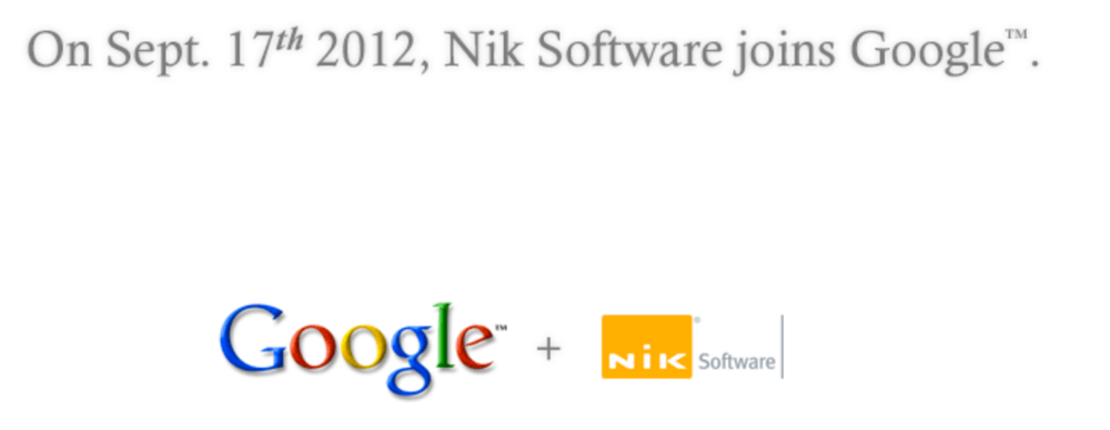 Google、iOSアプリ「Snapseed」などを開発するNik Softwareを買収
