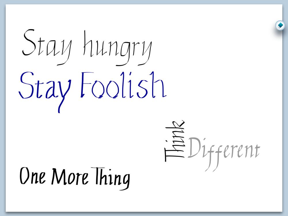 MetaMoji、カリグラフィー文字で書かれたスティーブ・ジョブズ氏の名言集を「Note Anytime」上で無償提供開始