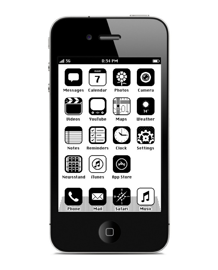 IPhone RetroOS HomeScreen 7 680