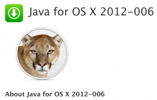 Apple、「Java for OS X 2012-006」「Java for Mac OS X 10.6 Update 11」リリース