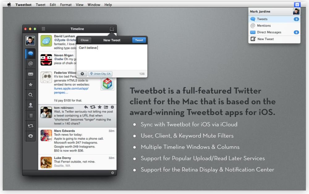 Tapbots、あとで読む機能にリーディングリストを追加するなどした「Tweetbot for Twitter 1.0.1」リリース