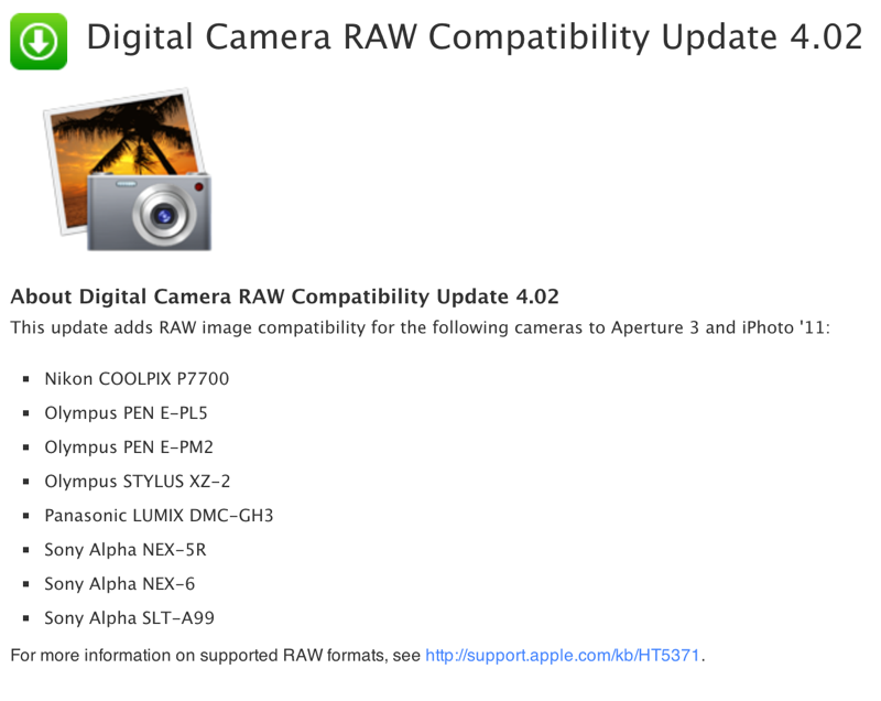 Digitalcamereupdate