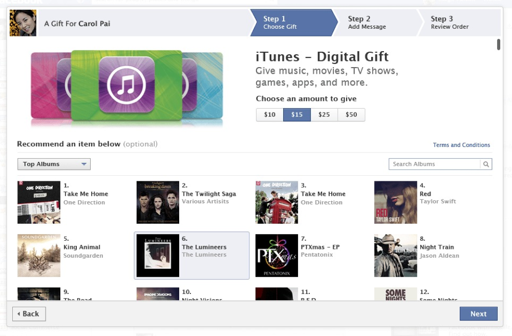 Facebookitunesdigitalgift