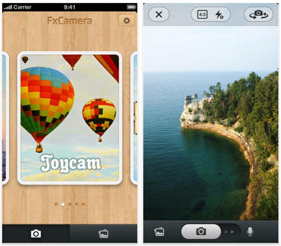 ビットセラー、音声付き写真が撮影できるiPhoneカメラアプリ「FxCamera」リリース