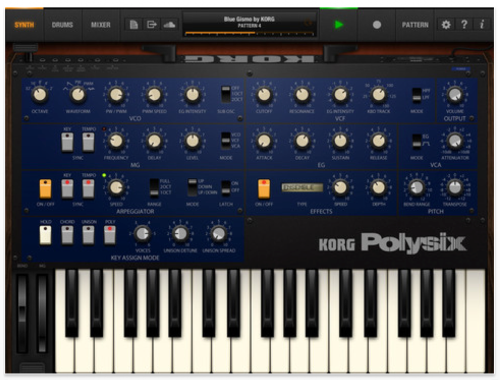 KORG、iPad向けポリフォニックシンセアプリ「iPolysix」リリース