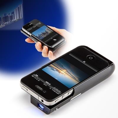 サンワサプライが、iPhone 4/4S用のプロジェクタを発売
