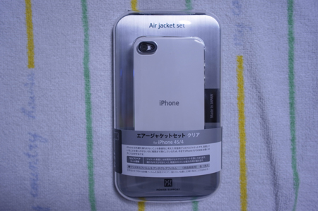 「iPhone 4S」にエアージャケット クリアを装着