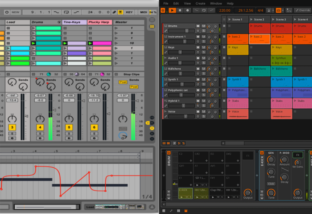 「Ableton LIVE」 VS 「Bitwig studio」