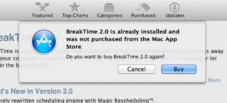 Apple、Mac App Storeで二重購入を防止するため警告を表示