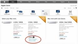 アメリカのApple Onlin Store の全商品にFacebook Twitterボタンを設置