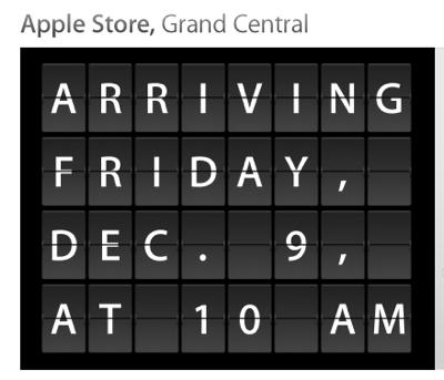 「Apple Store, Grand Central」は、通勤客に対応した営業時間に