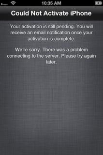 AT&Tのアクティベーションサーバーがダウン