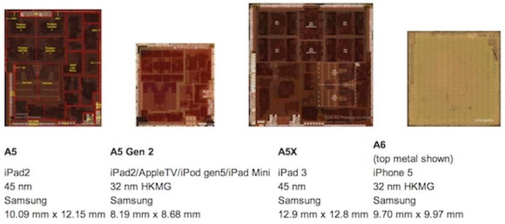 「iPad mini」のA5チップはサムスン製の32nmプロセスであることが確認される