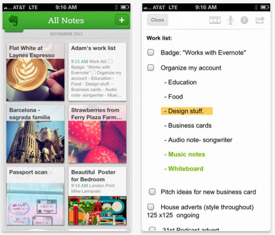 Evernote、iOS向け「Evernote 5.0」リリース