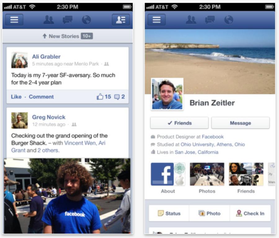 Facebook、いくつかの新機能を追加した公式iOSアプリ「Facebook 5.2」リリース