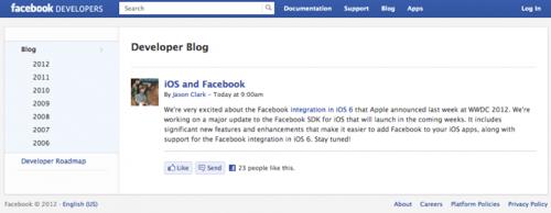 Facebook、iOS用FacebookのSDKのメジャーバージョンアップを準備
