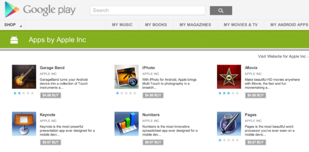 Googleplay apple