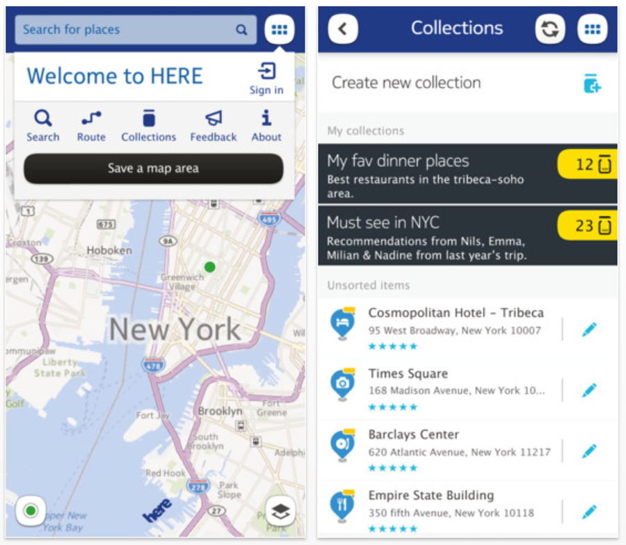 Nokia、iOS向けマップアプリ「HERE Maps」をアメリカでリリース