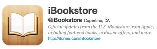 AppleがiBookstoreのTwitterアカウントを開設