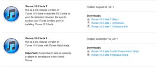 Appleは、デベロッパー向けに「iTunes 10.5 beta9」を配布開始